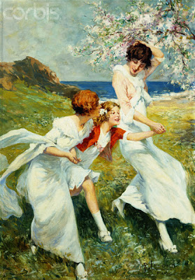 a spring day by the seashore by rene lelong.jpg